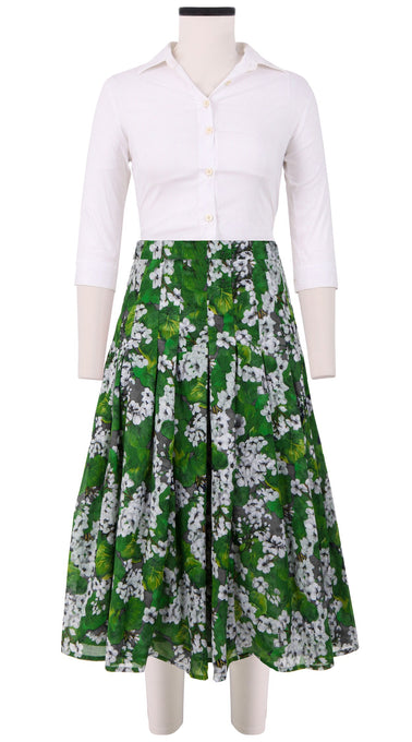 Zeller Skirt Long Length Cotton Musola (Rockcress Flower)