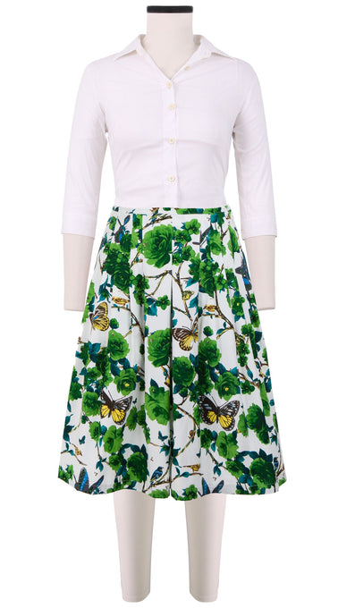 Zelda Skirt Cotton Stretch (Rose Butterfly)