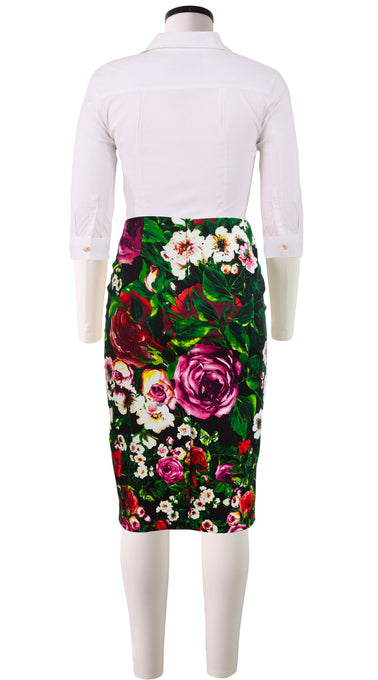 Chloe Skirt Cotton Dobby Stretch (Rose Garden)
