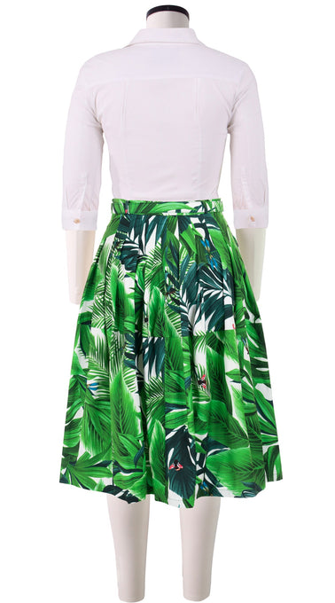 Claire Skirt Cotton Stretch (Rubber Plant)
