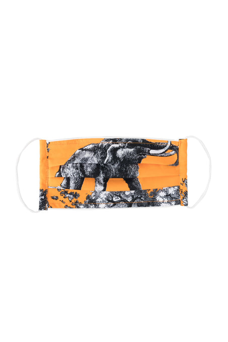 Mask #1_Cotton Stretch_Safari Toile Bright_Orange