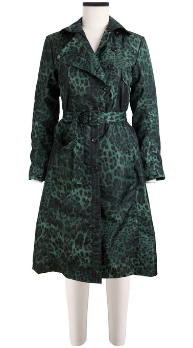 Clara Coat Long Sleeve Silk Poly  (Safari Leopard Mini)