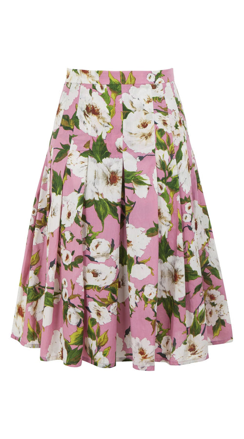Zeller Skirt Long Length Cotton Stretch (Sharon Rose Bright)