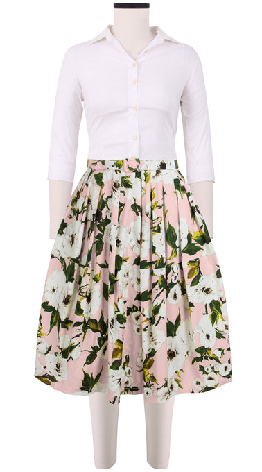 Claire Skirt Cotton Stretch (Sharon Rose Pastel)