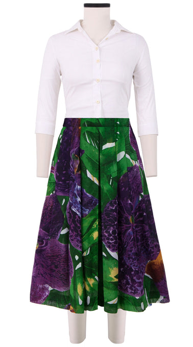 Zeller Skirt Long Length Cotton Musola (Singapore Orchid)