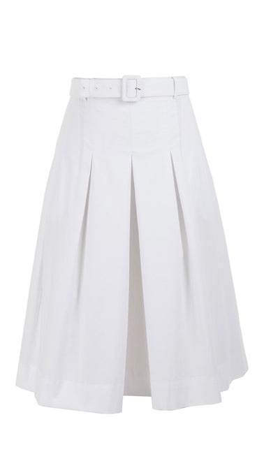 Donna Skirt Cotton Stretch_Solid_White