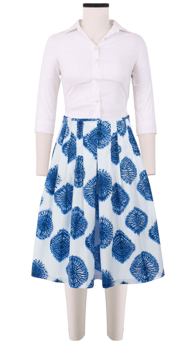 Zelda Skirt Cotton Stretch (Spider Shibori New)