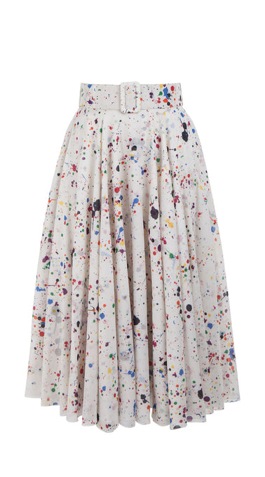 Aster Skirt Midi Cotton Musola (Splash)