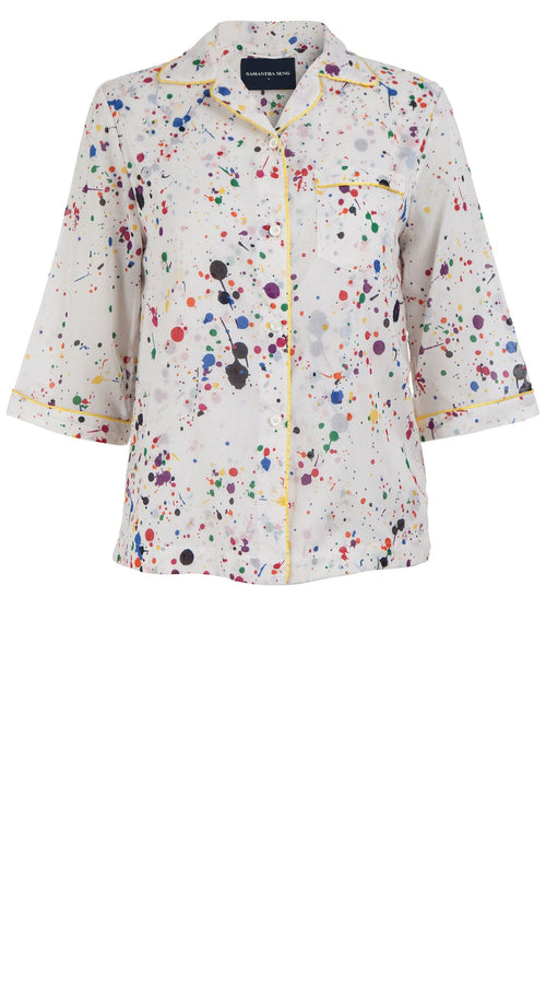 Hilary Shirt 1/2 Sleeve Cotton Musola (Splash)