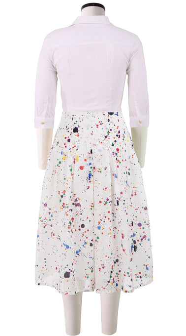 Zelda Skirt Long Length Cotton Musola (Splash)