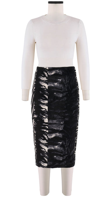 Chloe Skirt Long Length Velveteen (Tiger Multi)