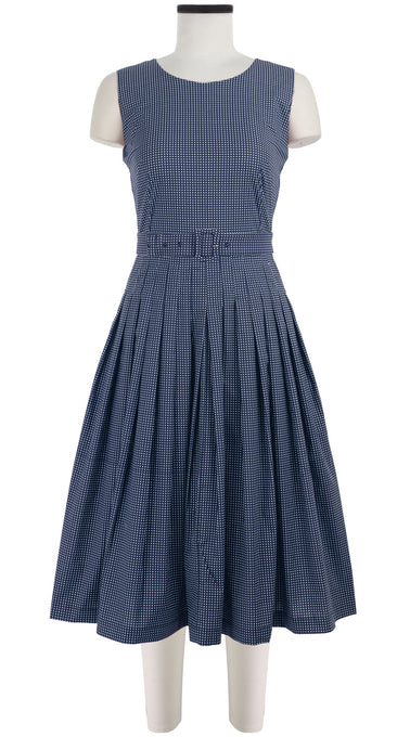 Florance Dress Round Neck Sleeveless Cotton Stretch (Toto Gingham)