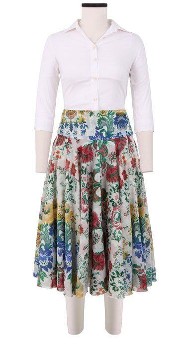 Aster Skirt with Yoke Long Length Cotton Musola (Upholstery)
