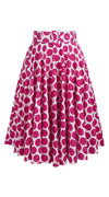 April Skirt Cotton Stretch (Warhol Dots Bright)