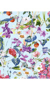 Rachel Dress Boat Neck 3/4 Sleeve Cotton Stretch (Wild Flowers)