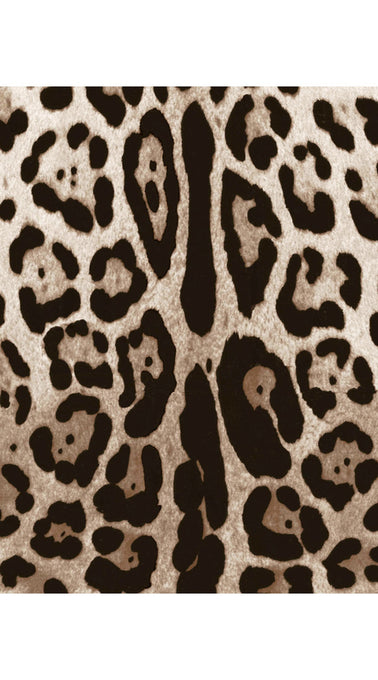 Beverly Coat Shirt With Hood Long Sleeve Silk Poly (Safari Leopard)