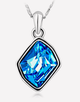 Oflara Ocean Blue Crystal  Necklace, Shades of Blue and Beachy