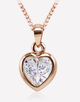 Oflara Heart Crystal Pendant Necklace