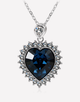 Oflara Crystal Love Heart Crystal Necklace