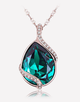 Oflara Pear Pendant Crystal Necklace