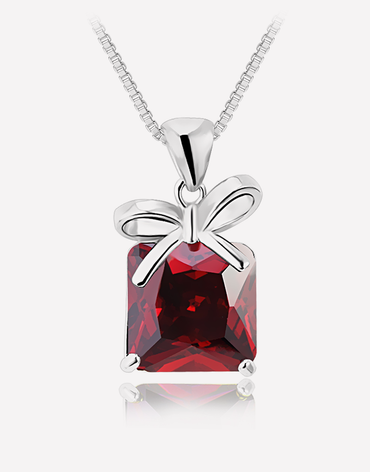Oflara Red Crystal Necklace