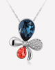 Oflara Plochrome  Crystal Flower Necklace
