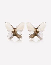 Oflara Crystal Butterfly Earrings