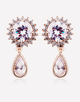 Oflara Crystal Peacock Earrings