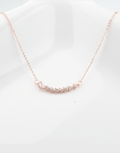 Mayflower Pendant Necklace, Rose Gold Plating