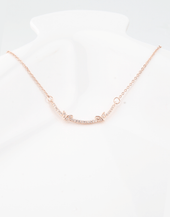 Butterfly Boat Pendant Necklace, Rose Gold Plating