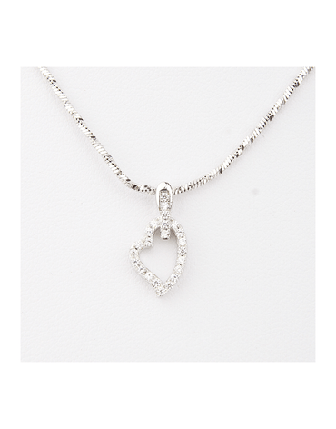 Tiny Minimalist Heart Pendant Necklace