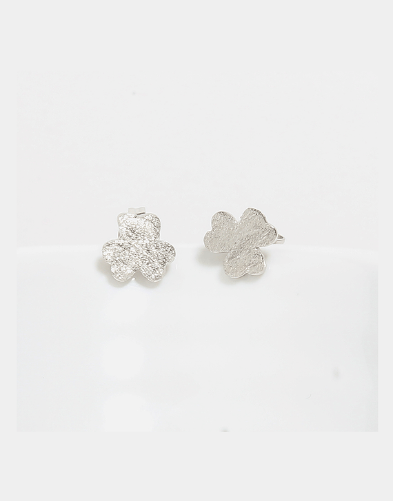 Sterling Silver Mini Clover Stud Earrings