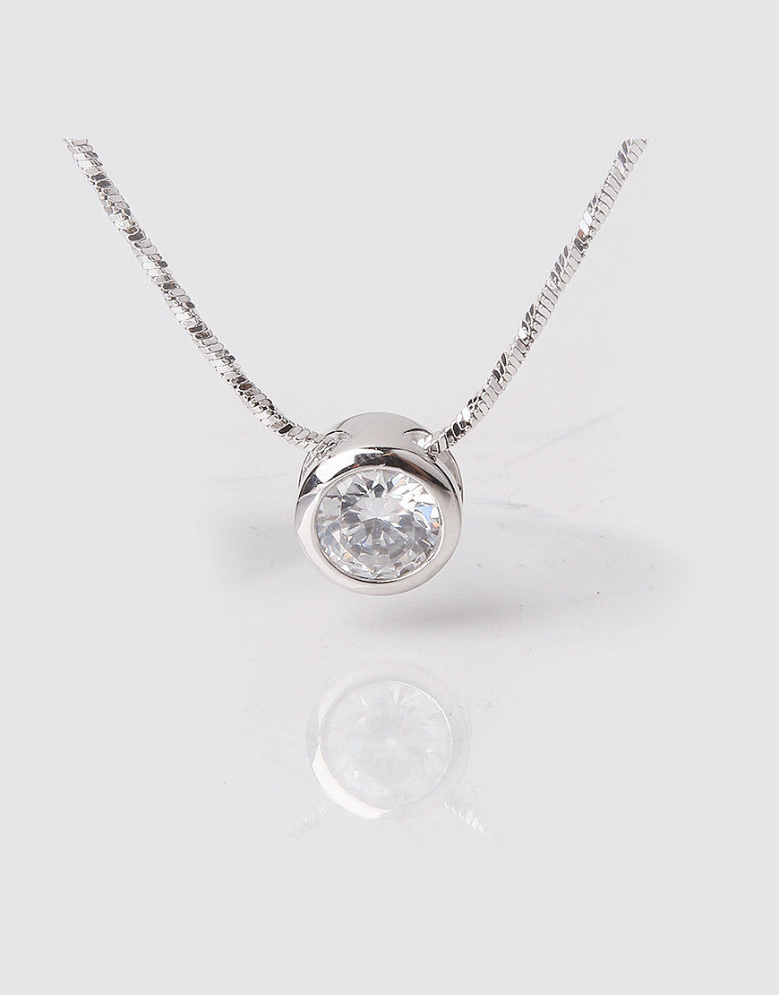 Tiny Dot Crystal Pendant Necklace