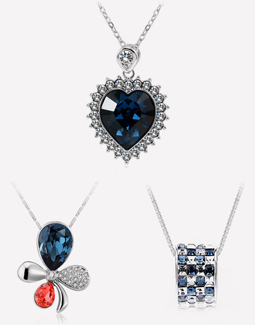 Blue Night Sky: Necklace Set