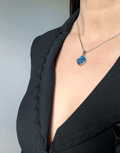 Oflara Ocean Blue Crystal  Necklace, Shades of Blue and Beachy (Real Look 2)