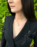 Oflara Flower Crystal Necklace Made with Austrian Crystals (Real Look 2)