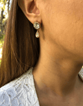 Oflara Crystal Peacock Earrings (Real Look 2)