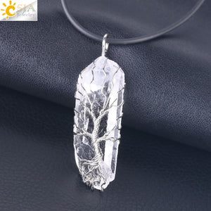 Tree of Life Natural Crystal Pillar - FloresLapis