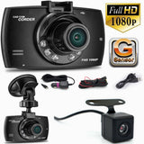 Car DVR Camera Wide Angle Dual Lens Night Vision