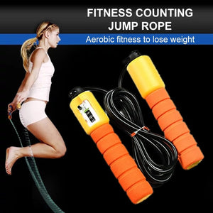 Skipping Jumping Rope with Mechanical Counter