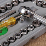 40 pcs Auto Repair Hand Tool Set Ratchet Wrenches Combination