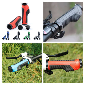 Universal Bike Rubber Handle Grips Non-slip Lock