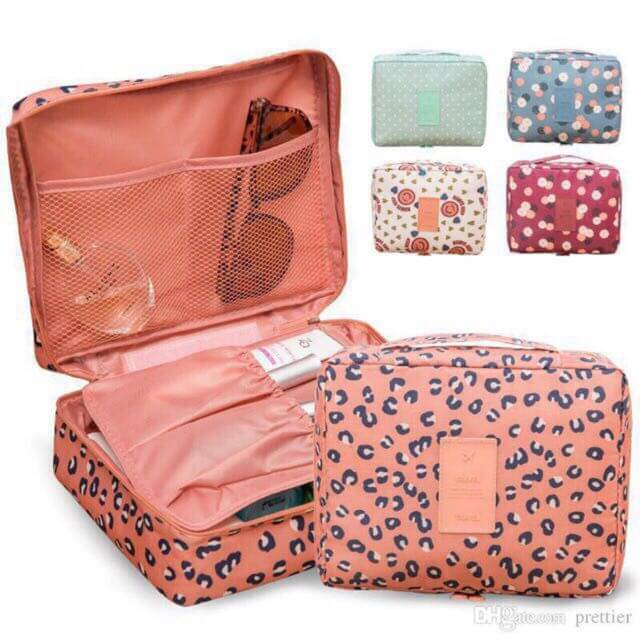 Printed Travel Organizer Makeup Pouch