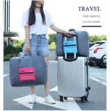 1pc Portable 32 L Large Capacity Trolley Folding Handbags