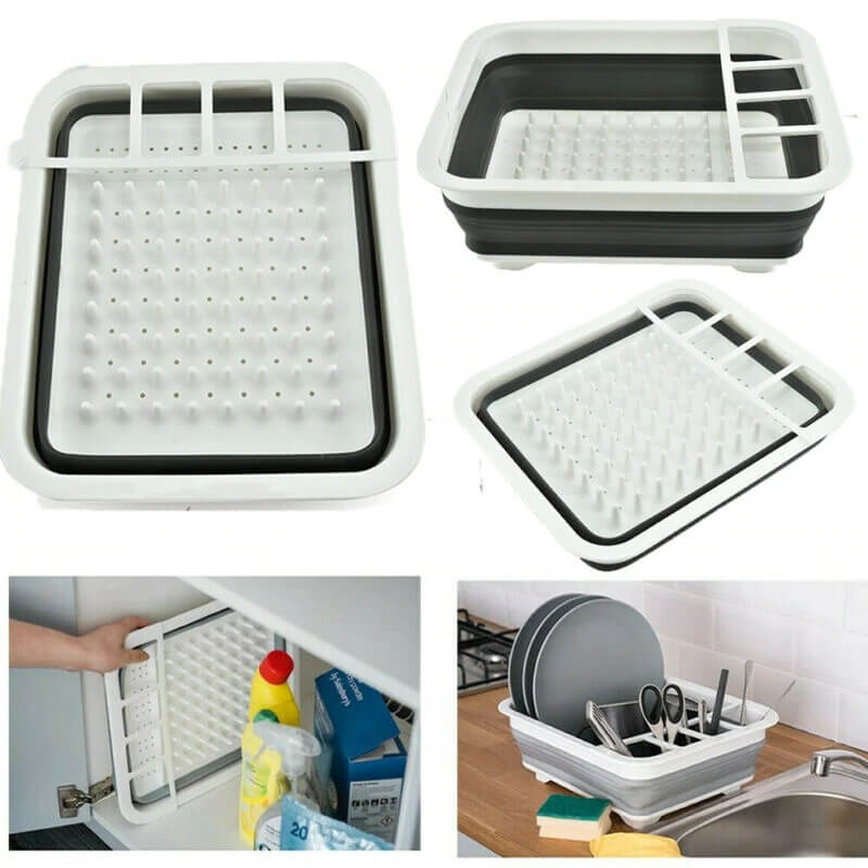 Kitchen Drainer Dish Folding Drying Rack