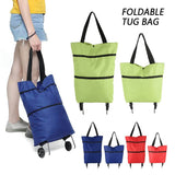 Folding Shopping Trolley Bag with Wheels