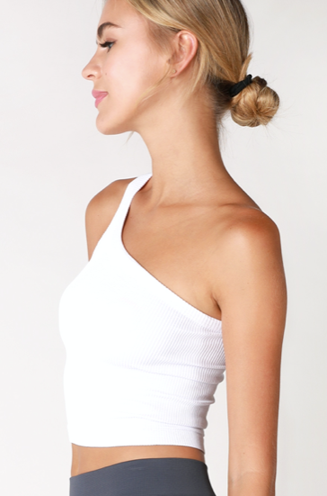 Marie One Shoulder- White