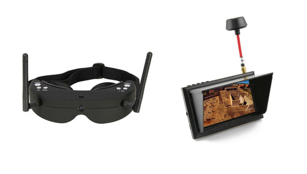 FPV googles and FPV monitor for drones and quadcopters