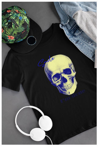 tshirt men black printed skull