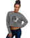 Women's Cropped Sweatshirt Dog Let's Walk | Time2Tee™